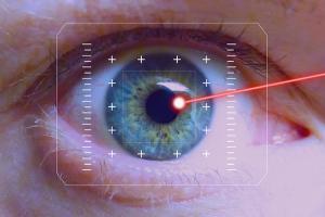 eye undergoing laser surgery