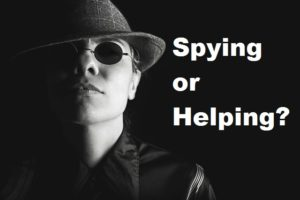 Spy asking Spying or helping?